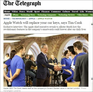 Tim cook@Telegraph
