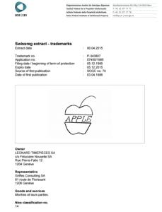 スイス特許庁・英語版公報